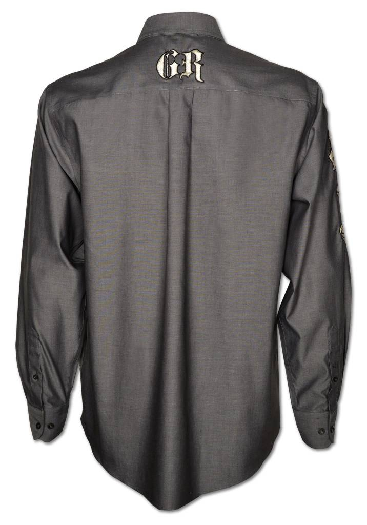 CHARCOAL GRAY MEN'S SHOW SHIRT