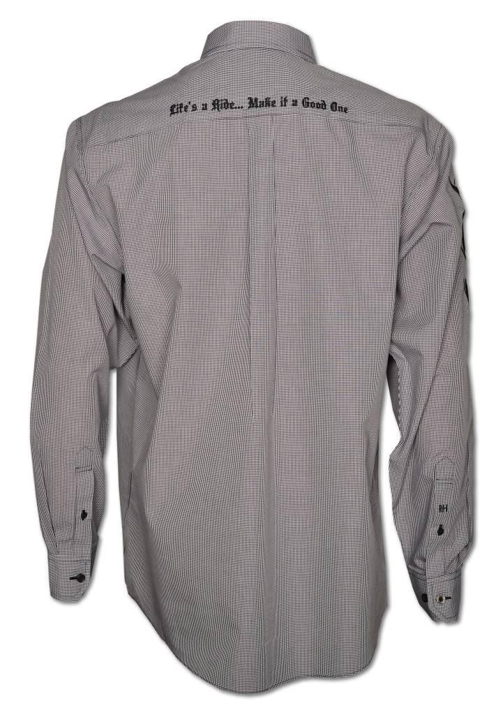 Black Checkered Men's Show Shirt