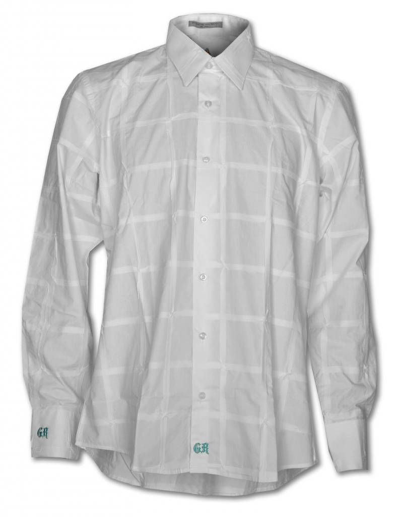 White Long Sleeve Men's Shirt