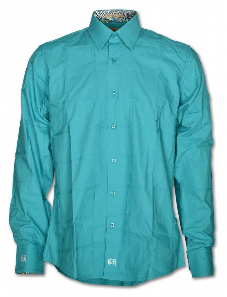 Teal Long Sleeve Men's Shirt