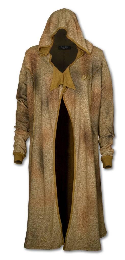 Women's Long Olive Cardigan