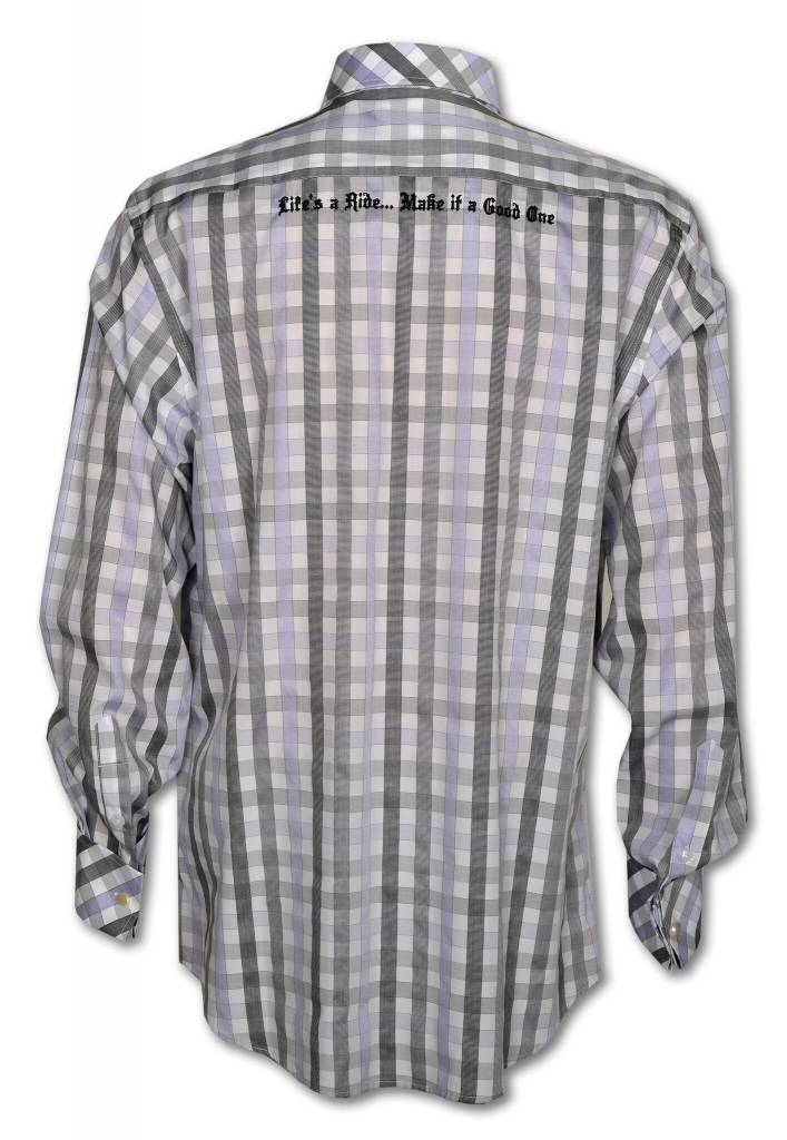 Men's Gray and Light Purple Show Shirt