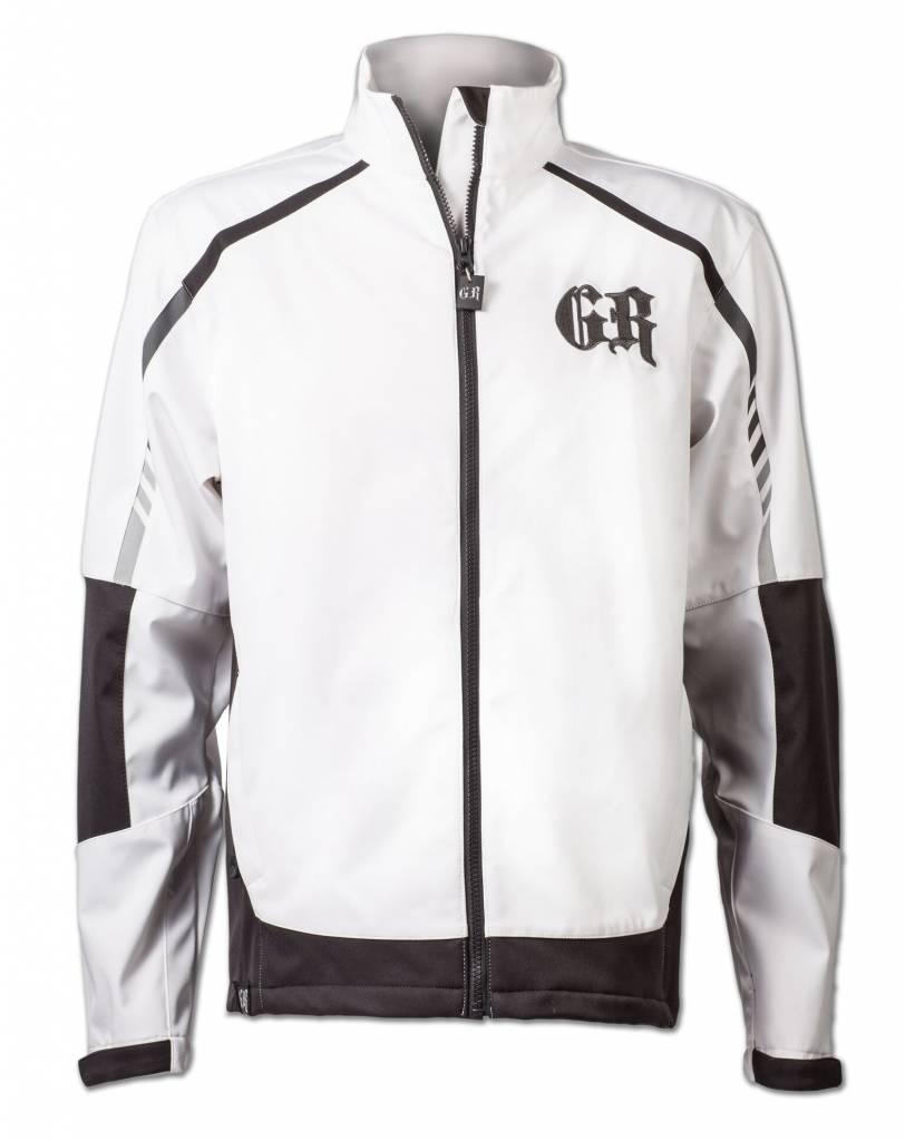 White and Black Softshell Jacket