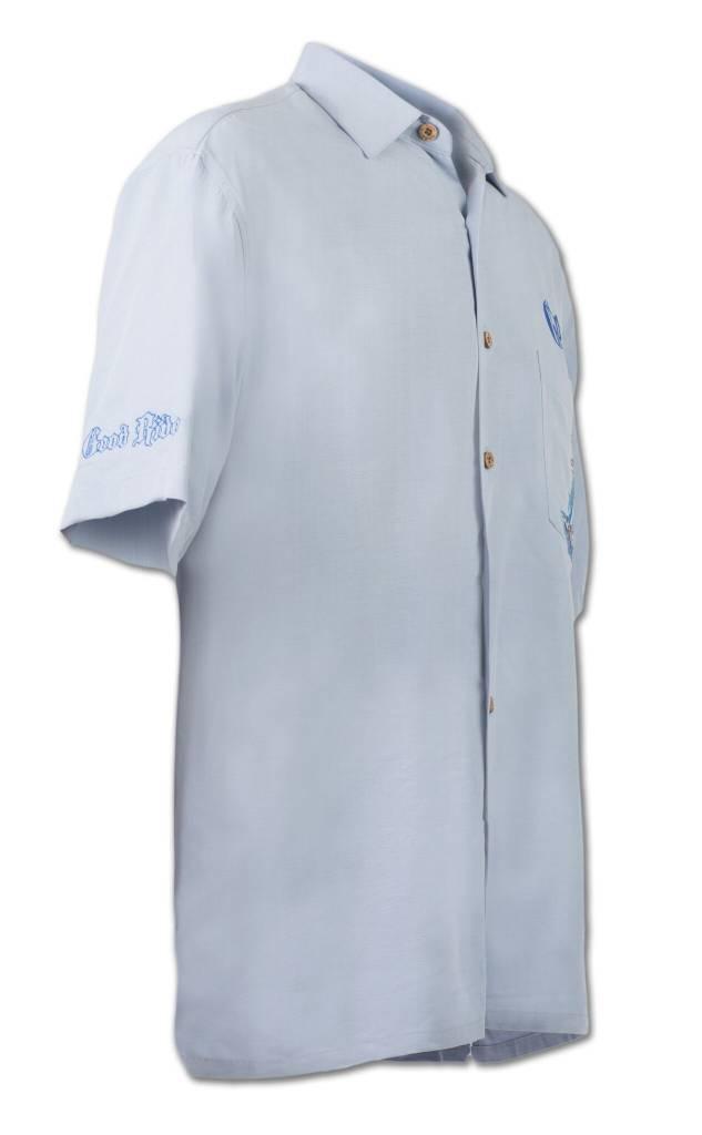 Light Blue Sailboat Themed Resort Shirt