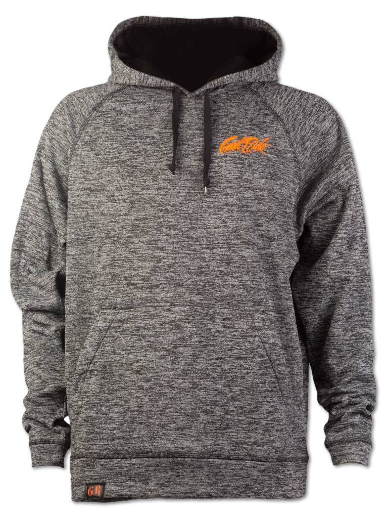 Heather Gray and Orange Hoodie