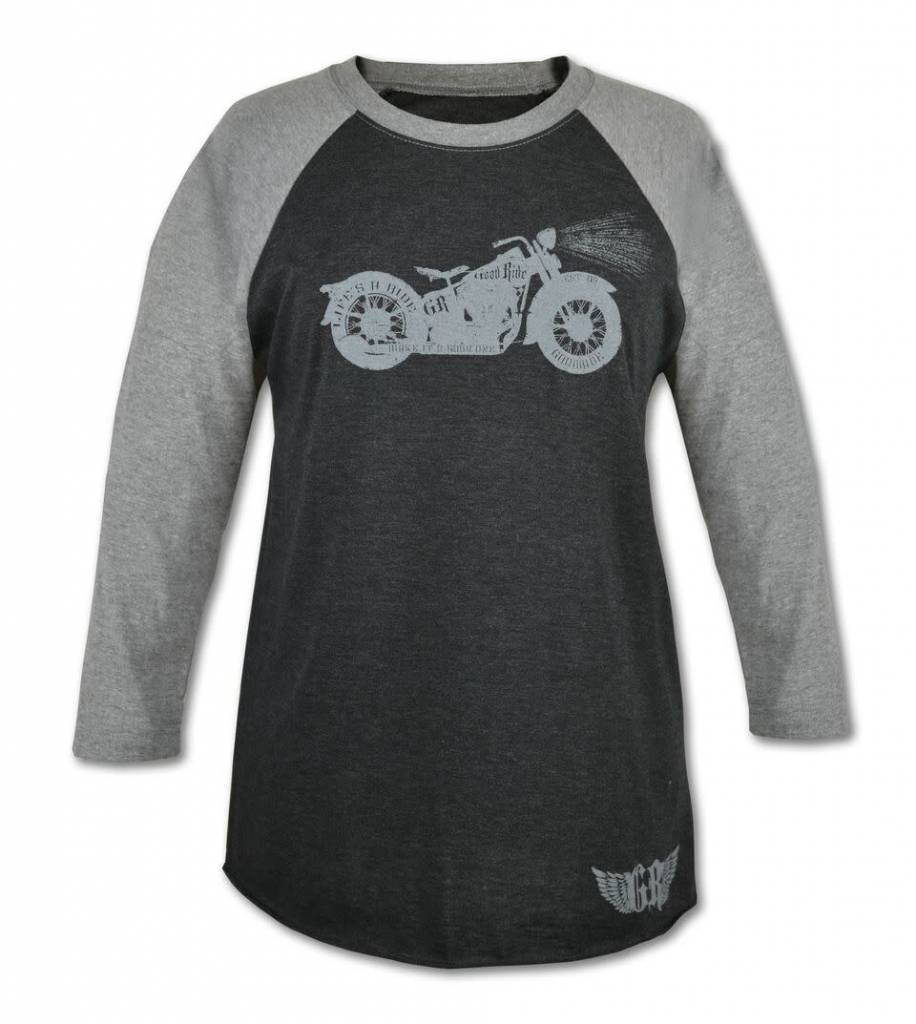 Women's Motorcycle 3/4 Sleeve T-Shirt