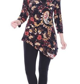 Parsley & Sage Asymmetrical Floral Tunic