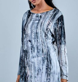WIND RIVER Boat Neck Viscose Printed Blouse