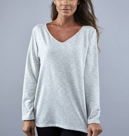 WIND RIVER Deep V-Neck Single Slub L/S Blouse