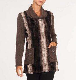 Alison Sheri Cowl Neck Fur Tunic A32169