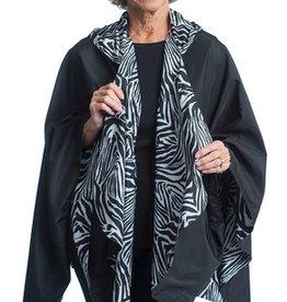 Rain Caper Black W/ Zebra Stripes