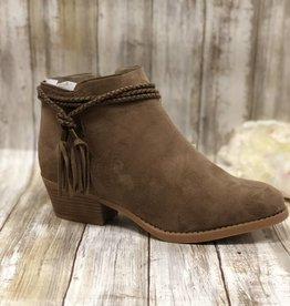 Leah Booties w/Side Knotted Strap & Charms