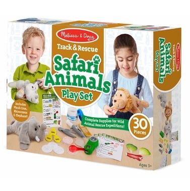 Melissa & Doug Track & Rescue Safari Animals Play Set