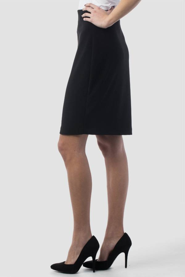 Black Knit Jersey Pull On Skirt, 153071F