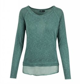 Made In Italy Knitted L/S Layer Top Scoop Neck - MinI