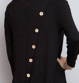 Solid Split Back w/Button Tunic