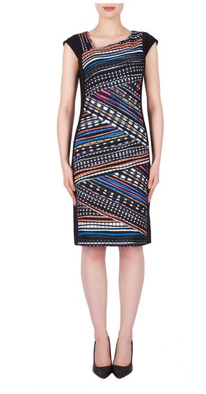 Joseph Ribkoff Multicolored Pattern Dress 191647