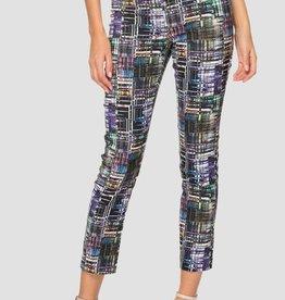 Joseph Ribkoff Multicolored Crosshatch Pant