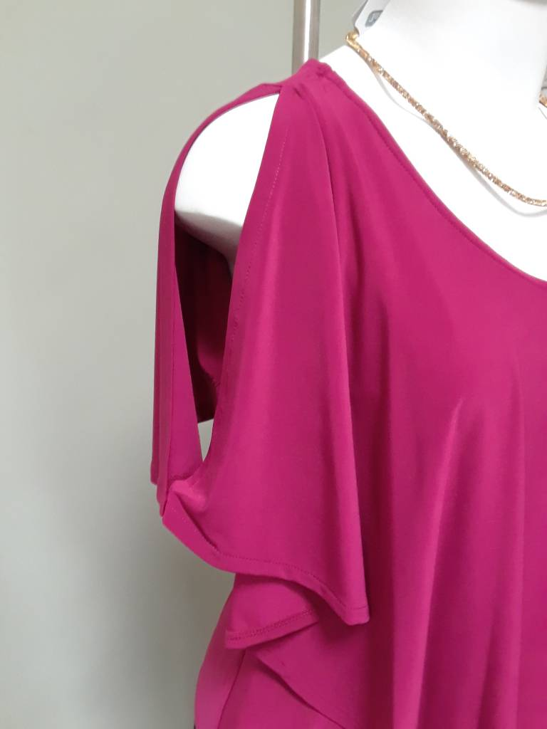 Artex Fashions Boat Neck Winged Top