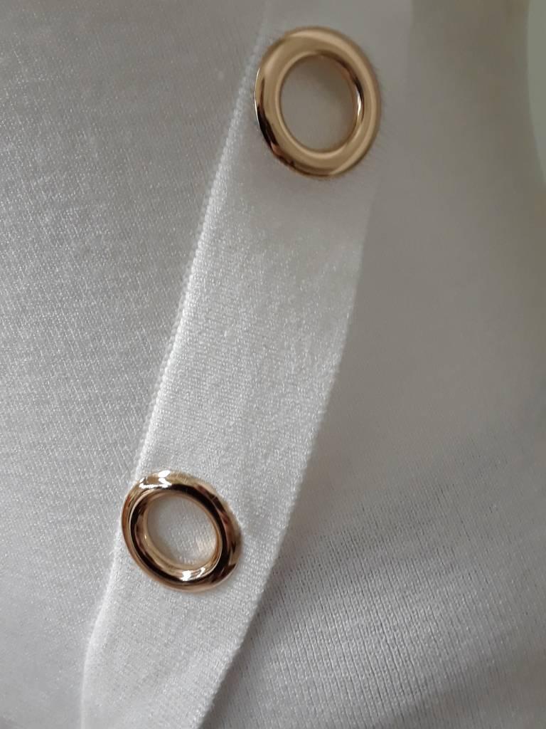 Alison Sheri V-Neck Pullover W/ Hoop Detail