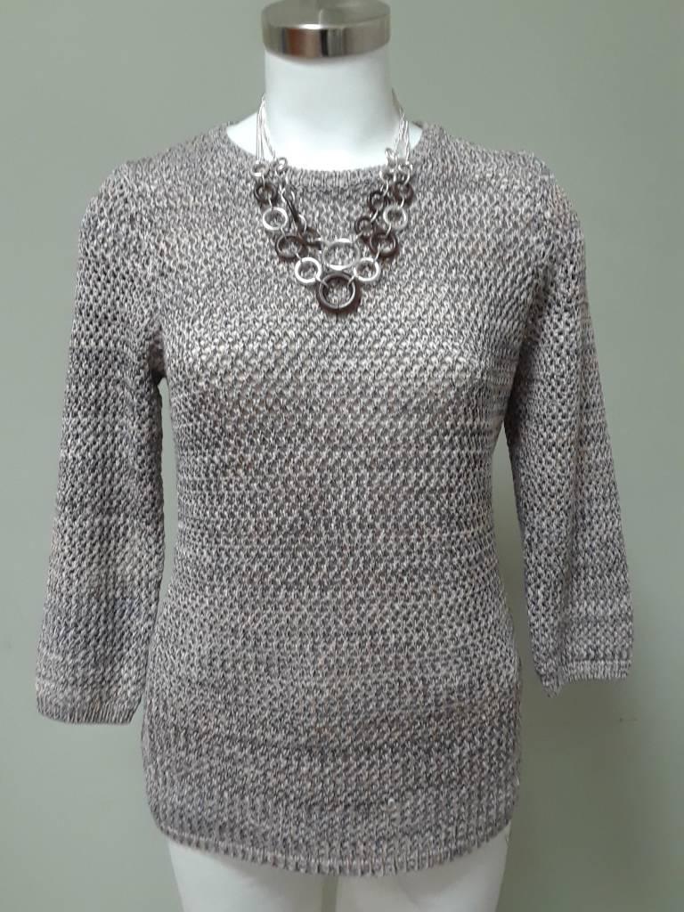 Alison Sheri Multi Color Tweed Sweater