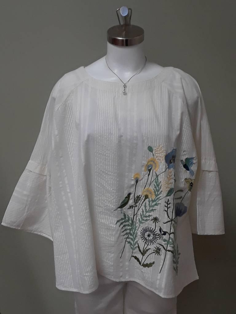 Gloria Embroidered Top