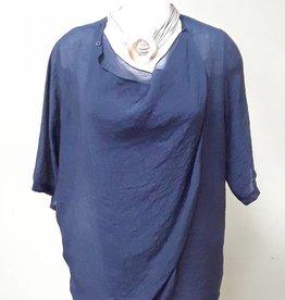 Alison Sheri Navy Woven Blouse
