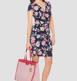 Joseph Ribkoff Ladies Navy Floral Dress
