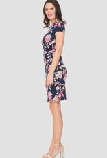 Ladies Navy Floral Dress