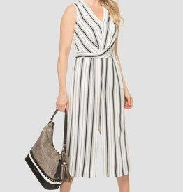Ladies Vertical Striped Jumpsuit