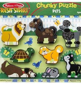 Melissa & Doug Chunky Puzzle- Pets