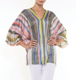 Alison Sheri Multi-Color Vertical Stripe Pullover