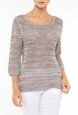 Alison Sheri Multi Color Tweed Sweater