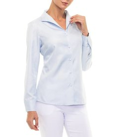 Alison Sheri Light Blue L/S Blouse