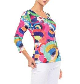 Alison Sheri Artistic V-Neck T-Shirt