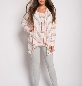 SOFT WORKS Open Front Cardigan