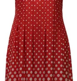 N TOUCH Sleeveless Dot Border Dress
