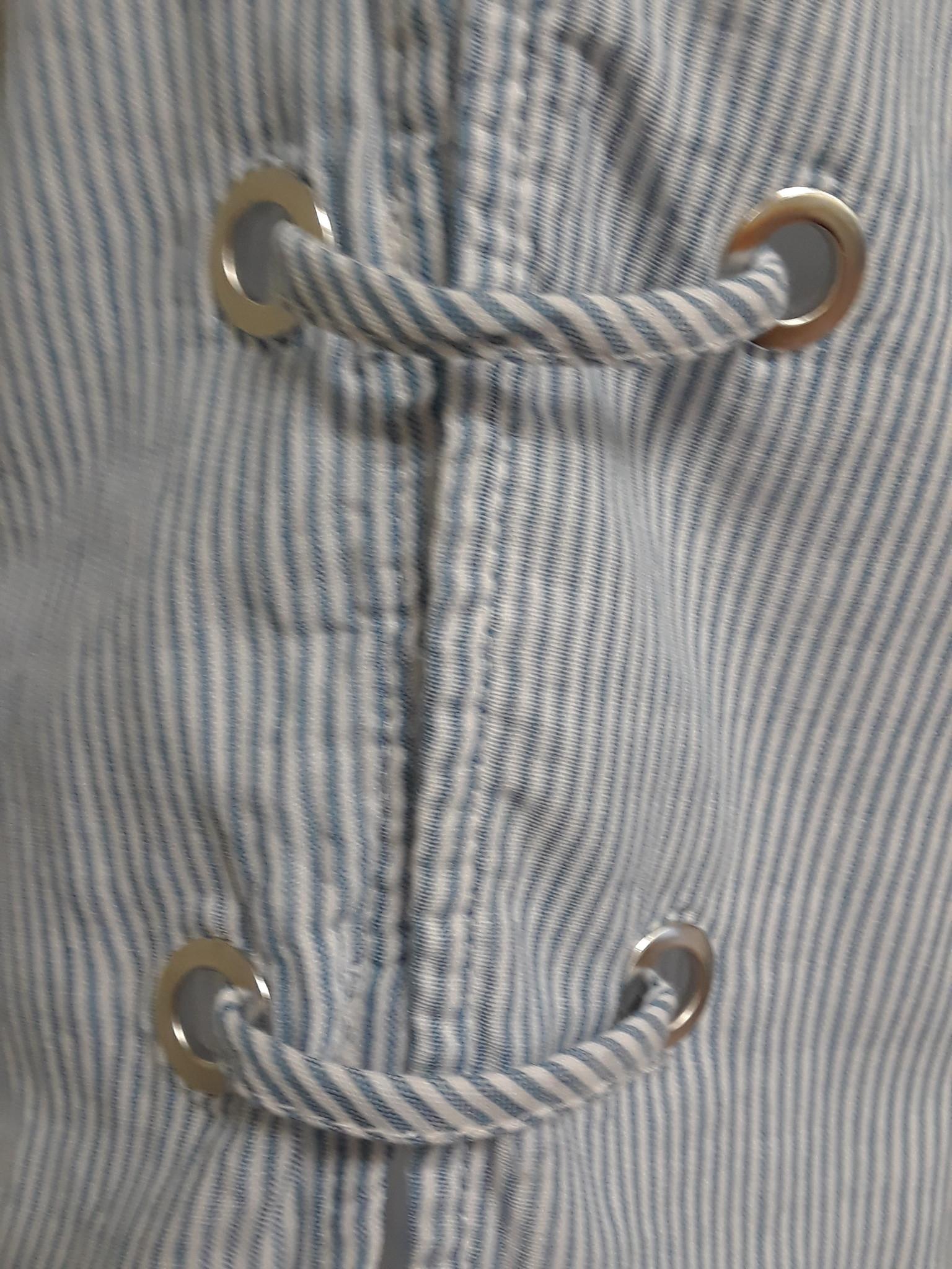 LuLu B. Open Sleeve Grommet Top
