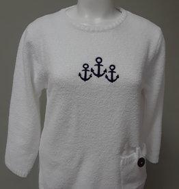 LuLu B. Embroidered Sweater W/ Pockets