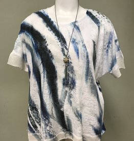 Impulse California Swirly Blues Sequin Top