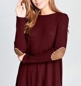 Brushed Thermal L/S Tunic W/ Elbow Patches