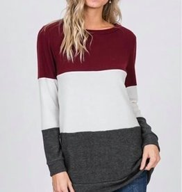 Color Block L/S Top