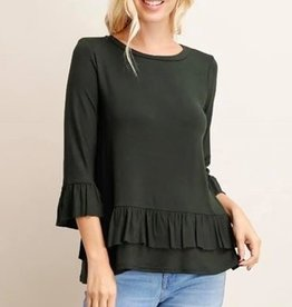 LA Showroom Solid Jersey Knit Tunic