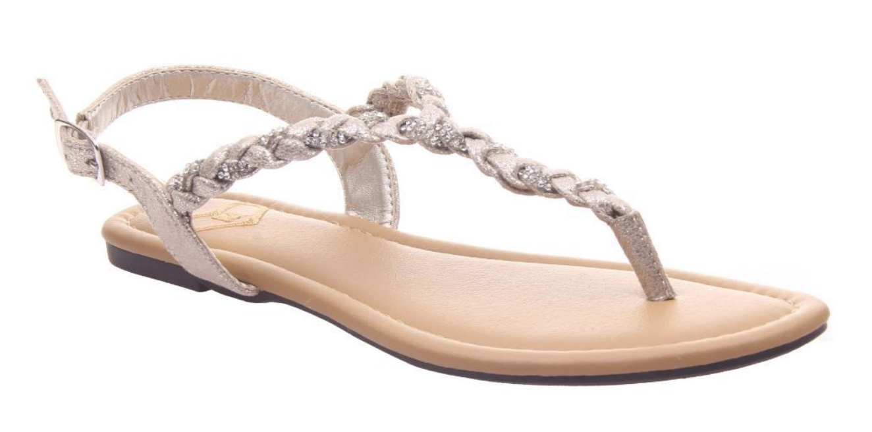 Antique Gold Charge Sandal