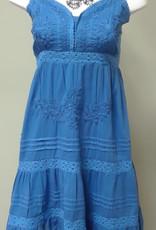 Woven Emb Lined Short Dress