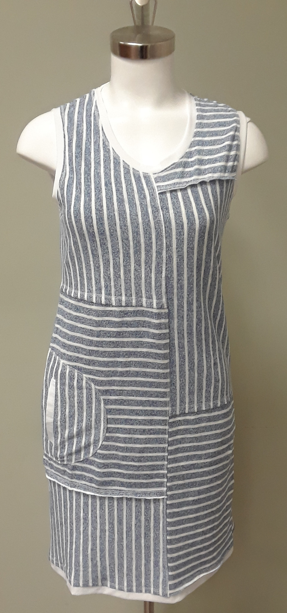 Violet Ruby Knitted Stripe Dress