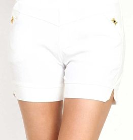 Cross Textured Millenium Shorts, White