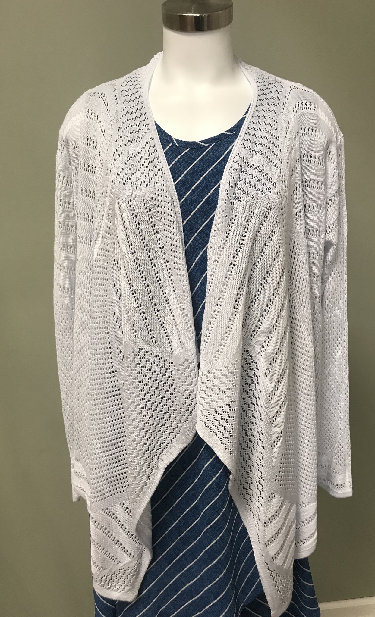 Compliments Knitted Open Cardi-Long