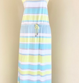 Maxi Dress, Yellow & Blues
