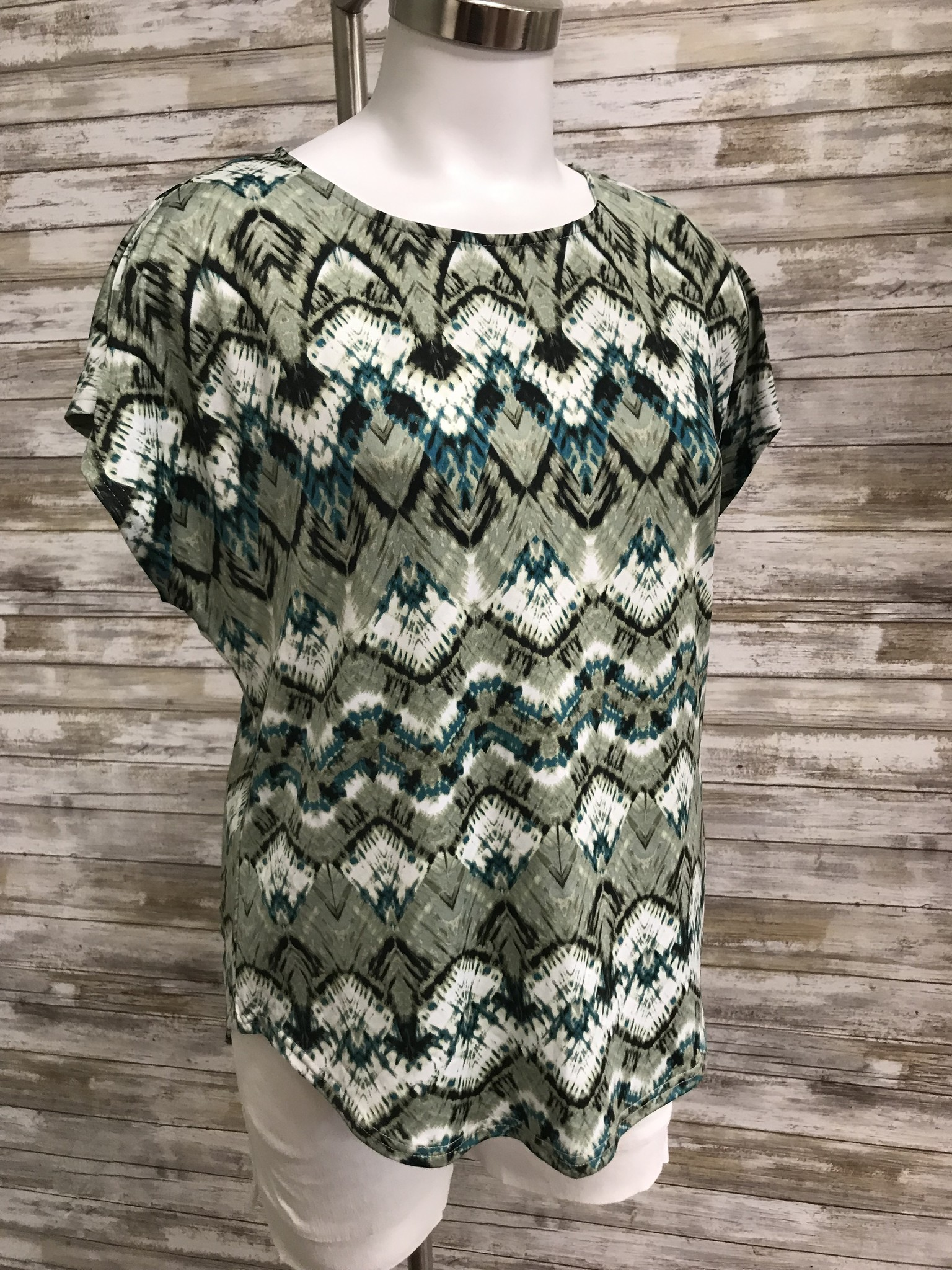 N TOUCH N Touch Key Print Petite Top